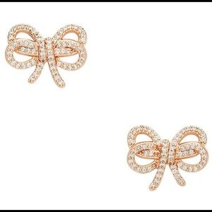 Kate Spade - Bow Meets Girl Earrings (ROSE GOLD)